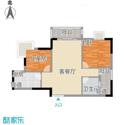 联华花园城三期91.59㎡联华花园城三期2室户型2室