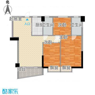 中南金珀顿123.04㎡中南金珀顿户型图03房3室2厅2卫1厨户型3室2厅2卫1厨