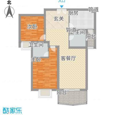 华兰佳园104.53㎡华兰佳园户型图52室2厅2卫1厨户型2室2厅2卫1厨