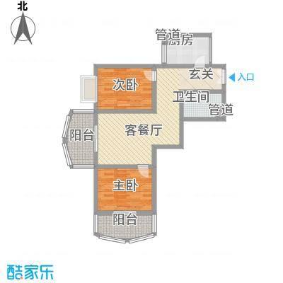 华兰佳园91.17㎡华兰佳园户型图42室1厅1卫1厨户型2室1厅1卫1厨
