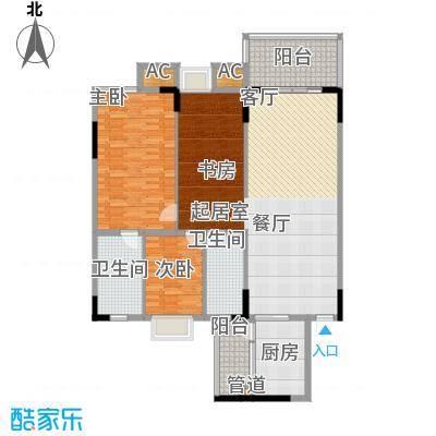 金美花园泓景峰136.00㎡金美花园泓景峰3室户型3室