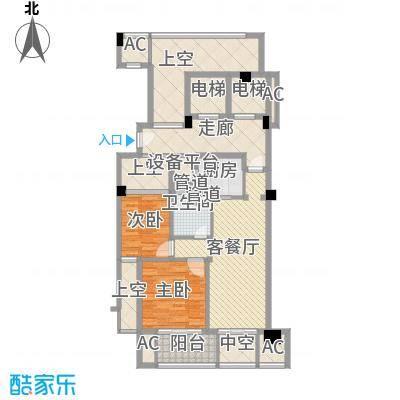 绿城�园88.00㎡绿城�园户型图D户型2室2厅1卫1厨户型2室2厅1卫1厨