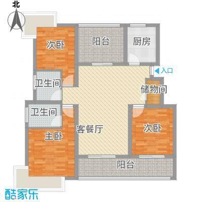 美岸青城幸福里美岸青城―幸福里户型图140平米户型图4室2厅2卫1厨户型4室2厅2卫1厨