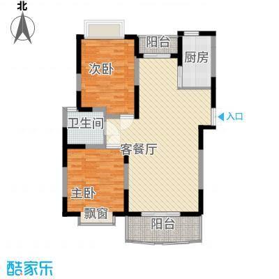 大华水韵华庭户型图C座3户型 2室2厅1卫1厨
