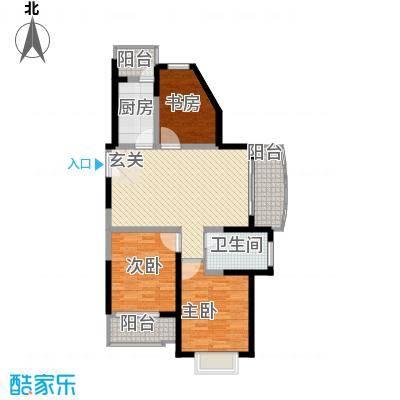 大华水韵华庭户型图C座2户型 3室2厅1卫1厨