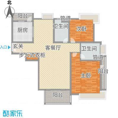 东亭家园173.00㎡东亭家园户型图户型图2室2厅2卫1厨户型2室2厅2卫1厨