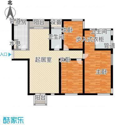 置地新唯花园户型图户型图 3室2厅2卫1厨