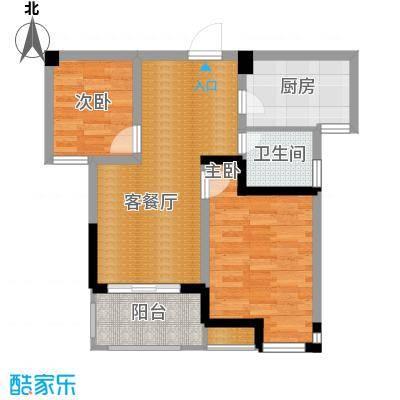 滨湖香江龙韵71.76㎡9#B1户型2室2厅1卫