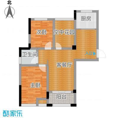 滨湖香江龙韵72.75㎡1#A12户型2室2厅1卫
