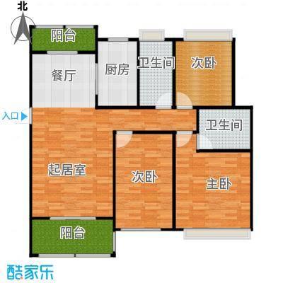 紫御府124.00㎡B2户型3室2厅2卫