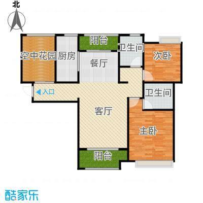 紫御府108.00㎡A1户型2室2厅2卫