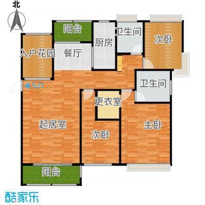 紫御府139.00㎡B1户型3室2厅2卫