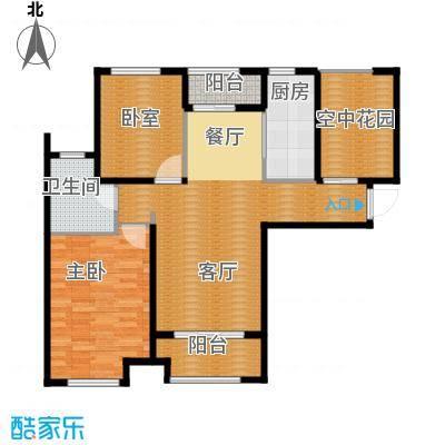 紫御府99.00㎡A2户型2室2厅1卫