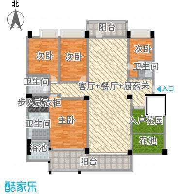 万联・晋海219.69㎡A2户型4室3厅2卫