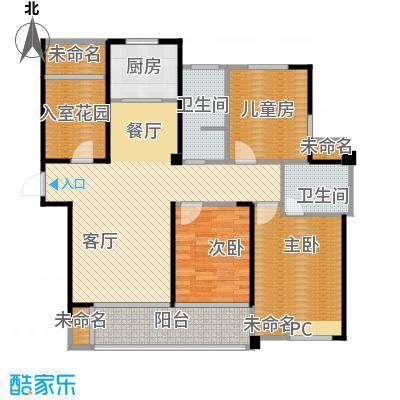 圣联香御公馆125.00㎡户型3室2厅2卫