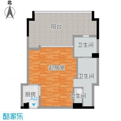 合景・汀澜海岸89.54㎡公寓D户型1室2厅1卫
