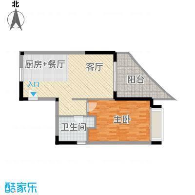 中信・香水湾79.17㎡海寓A2户型1室1厅1卫