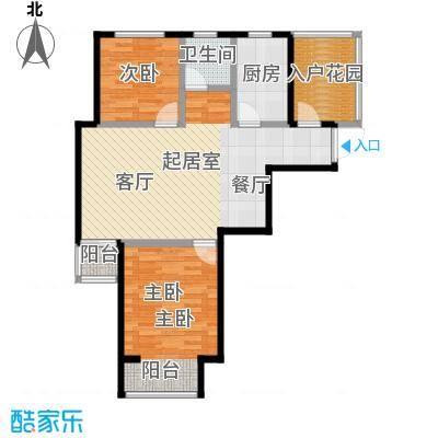 圣联香御公馆93.00㎡户型2室1卫1厨