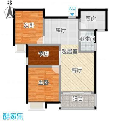 圣联香御公馆97.00㎡户型3室1卫1厨