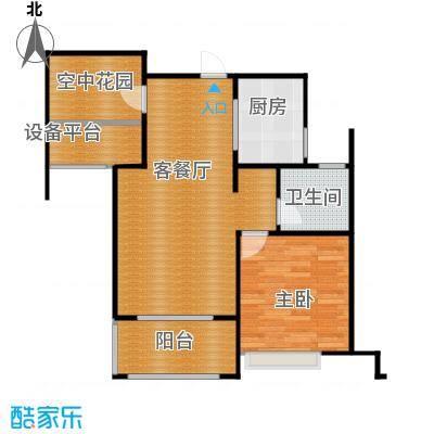 海亮九玺76.00㎡户型2室2厅1卫
