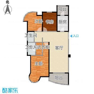 百商悦澜山114.00㎡E1涟漪户型3室1厅2卫1厨