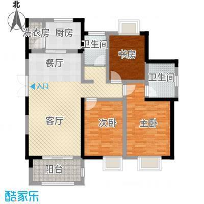 蓝鼎海棠湾127.00㎡户型3室2厅2卫