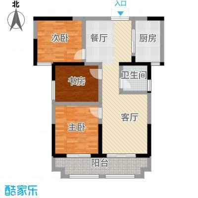 蓝鼎海棠湾115.00㎡户型3室2厅1卫