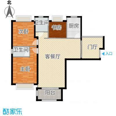淮矿馥邦天下117.00㎡户型3室2厅2卫