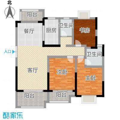 蓝鼎海棠湾135.00㎡户型3室2厅2卫