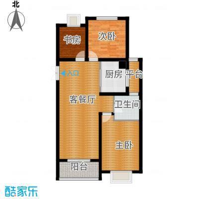 淮矿馥邦天下115.00㎡户型3室2厅1卫