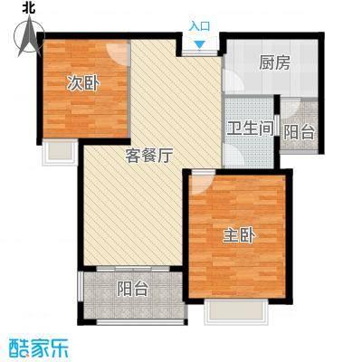 淮矿馥邦天下89.00㎡户型2室2厅1卫