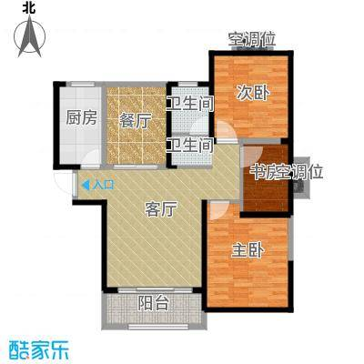 华地紫园105.00㎡23号楼户型10室
