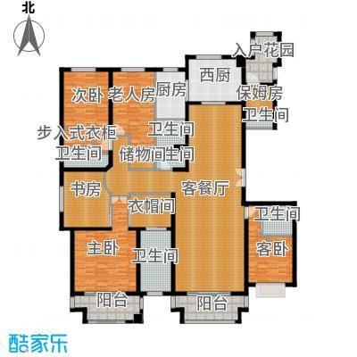 绿地内森庄园316.55㎡户型5室2厅6卫