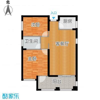 国贸天琴湾96.70㎡6号楼D2户型2室2厅1卫