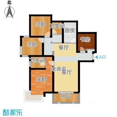 城建琥珀五环城135.80㎡D户型4室2厅2卫