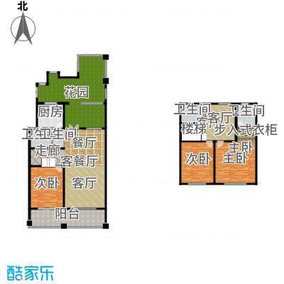 绿地内森庄园246.00㎡户型3室2厅3卫