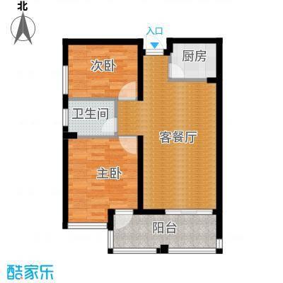 国贸天琴湾97.81㎡3号楼E2户型2室2厅1卫