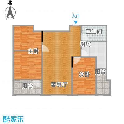亚泰梧桐公馆85.00㎡6#楼04户型2室1厅1卫1厨