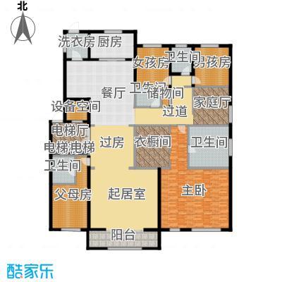 中海紫御华府320.00㎡一期标准层C户型4室3厅3卫