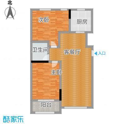 亚泰梧桐公馆88.00㎡6#楼02户型2室1厅1卫1厨