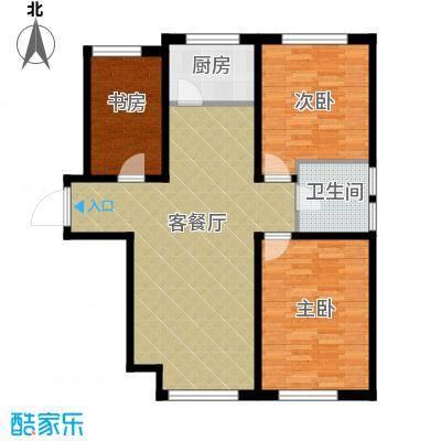 亚泰梧桐公馆95.00㎡E1户型3室1厅1卫1厨