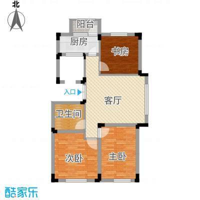 中国铁建国际花园79.86㎡户型10室