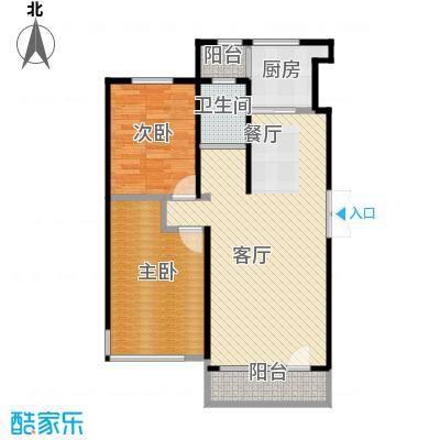 中国铁建国际花园89.00㎡二期HA户型2室2厅1卫