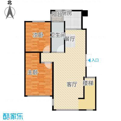 中国铁建国际花园99.00㎡二期HA-户型3室2厅1卫