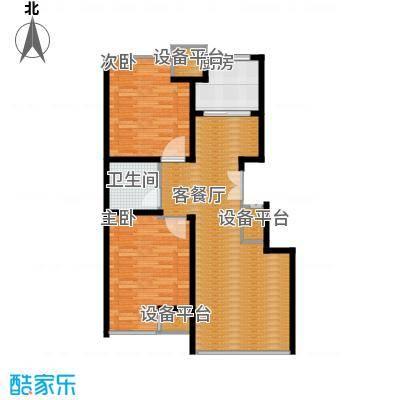 豪邦缇香公馆75.00㎡C户型2室2厅1卫