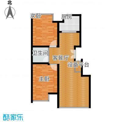 豪邦缇香公馆85.00㎡户型2室2厅1卫
