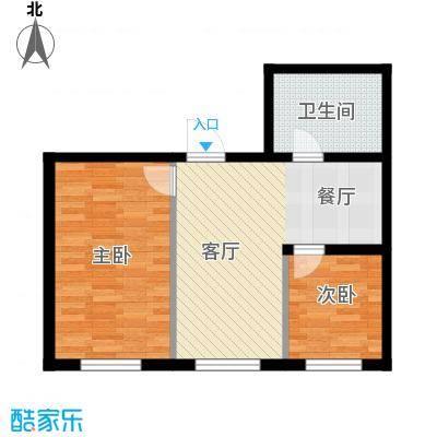 东方之珠龙翔苑60.00㎡C户型2室1厅1卫