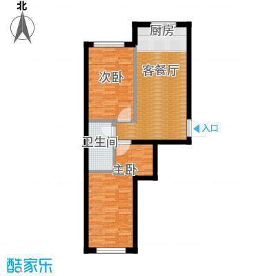 东方之珠龙翔苑60.00㎡B户型2室1厅1卫