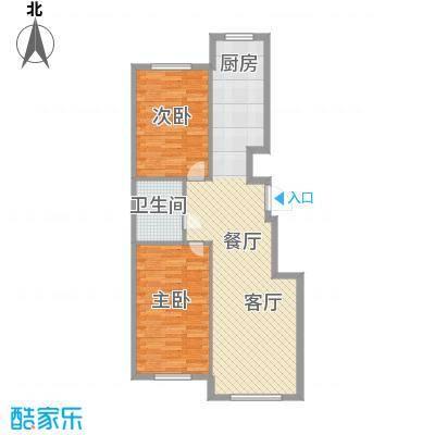 东方之珠龙翔苑70.00㎡A户型2室2厅1卫