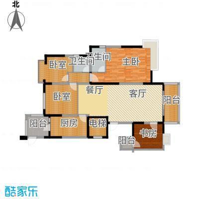 碧桂园城市花园165.00㎡户型4室2厅2卫